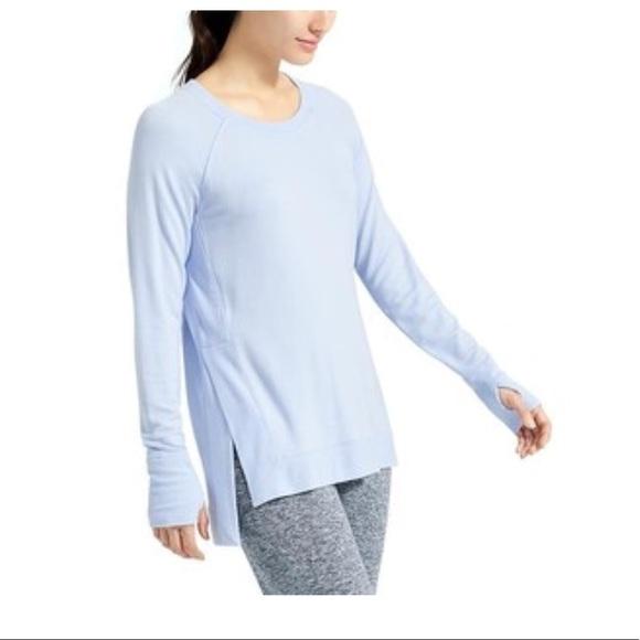 673291ae6 Athleta Tops | Studio Side Slit Cya Sweatshirt Size Xs | Poshmark